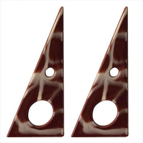 TRIANGULO CHOCOLATE NEGRO MARMOL