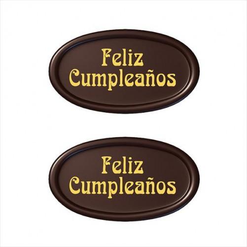 LETRERO FELIZ CUMPLEAÑOS CHOCOLATE